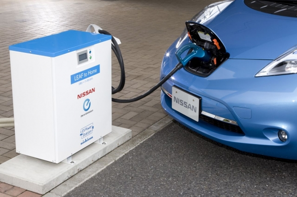 Nissan Leaf i EV Power Station (system Leaf to Home)