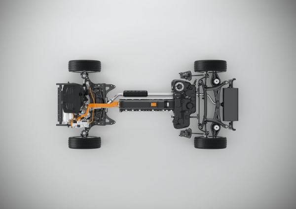 Volvo Compact Modular Architecture (CMA) - wersja PHEV T5 Twin Engine